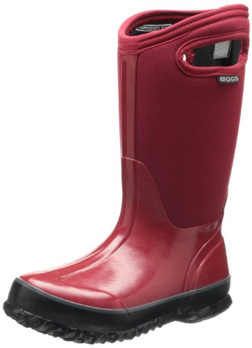 Bogs Classic Solid Waterproof Insulated Rain Boot (Toddler/Little Kid/Big Kid),  Red, 7 M US Toddler by Bogs
