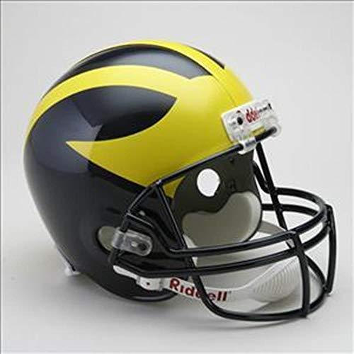 NCAA Michigan Wolverines Deluxe Replica Football Helmet (Helmet Replica 12 Deluxe)