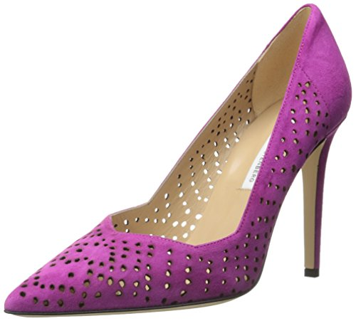 Diane Von Furstenberg Women's Bonnie Dress Pump New Berry Perforated Kid Suede ccNdSMO