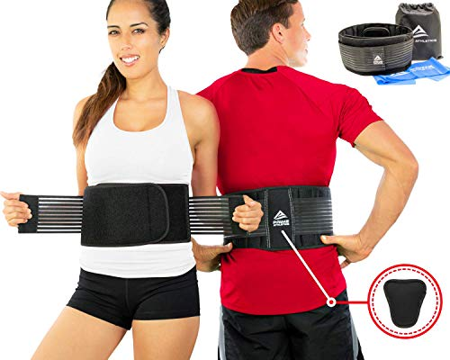 Lumbar Support Belt - Back Brace for Back Pain Relief, Herniated Disc, Sciatica, Scoliosis, Men & Women, Breathable Design Lumbar Pad & Adjustable Straps | Bonus Resistance Band & Carry Bag (S/M) (Treatment For Lower Back Pain In Men)