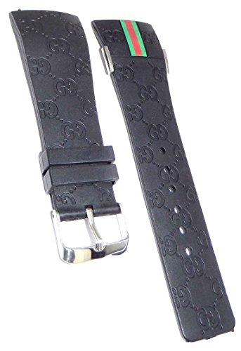 Fit For I Gucci Digital Watches Black Replacement Rubber