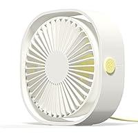 AmuseNd USB Personal Fan, USB Power Fan Ultra-Quiet Design Third Gear Speed Mini Fan for Office Desktop