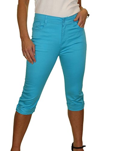 Turquoise 38 Capri Stretch Jeans Brillance 48 et avec rqraX0