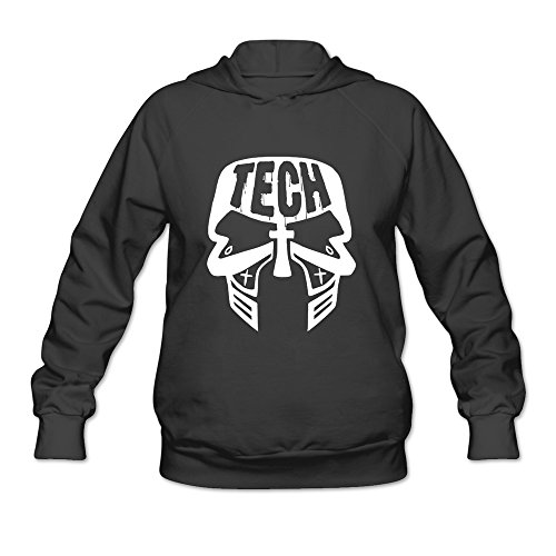 Tech N9ne Face Paint Funny Hoodie Design For Female Black XXL