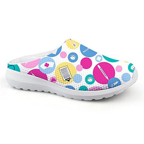 Coloranimal Cute Cartoon Nurse Printed Summer Beach Water Sandals Sandals Sandals Mesh Breathable Flats B07CNTMZWF Shoes ca209c