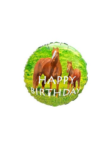 Creative Converting Unisex Adult Wild Horses Foil Balloon Brown Medium (Halloween Party Theme Ideas For Adults)