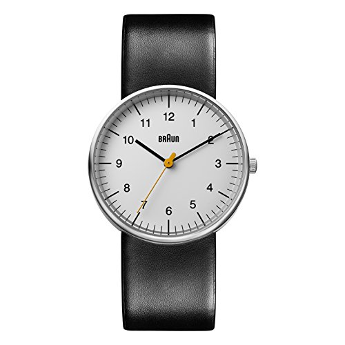 Braun Mens Analogue Classic Quartz Watch with Leather Strap BN0021BKG