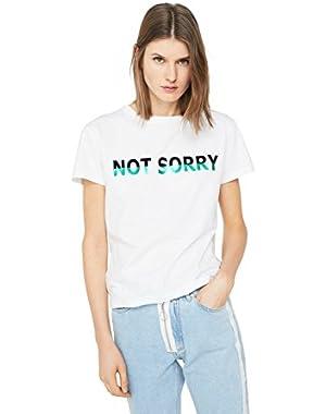 Mango Women's Message Cotton T-Shirt
