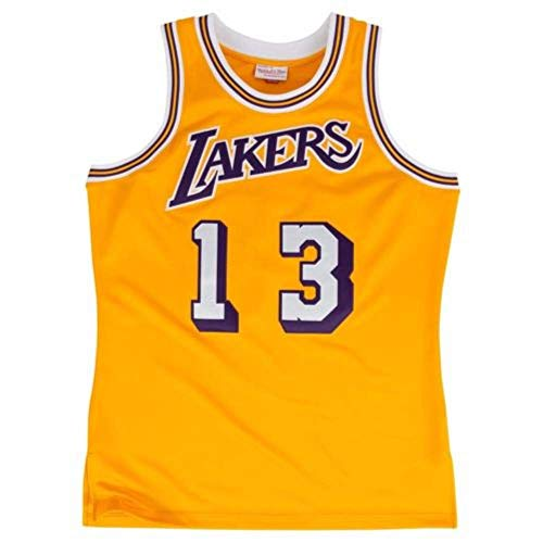 Hardwood Jersey - Wilt Chamberlain LA Lakers Hardwood Classics Throwback Jersey Gold Men's (M)