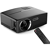 ERISAN 2017 Portable LED Projector, 1800 Lumens 180 for Outdoor Indoor Movie Night, Support Blu-Ray DVD Player, PC, Laptop, XBOX PS3 PS4 HD Games
