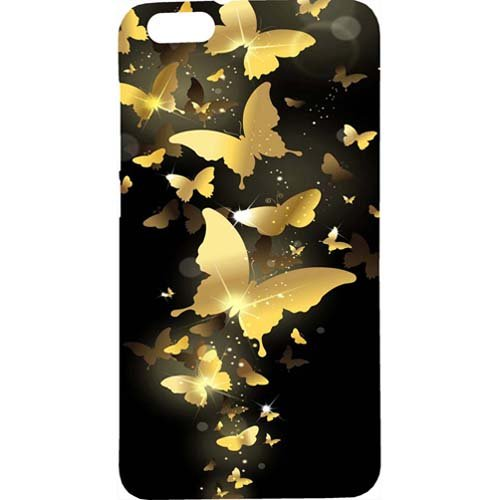Casotec Golden Butterfly Pattern Design Hard Back Case Cover for Huawei Honor 4X