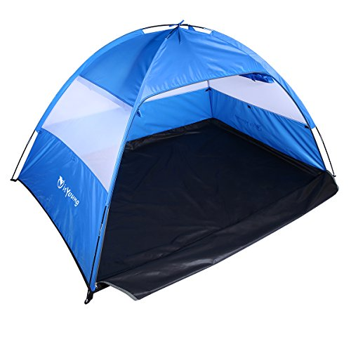 isYoung Beach Tent Sun Shelter Easy to Set UP Allow 2 or 3 Person Come with Mesh Windows and Interior Curtain by isYoung