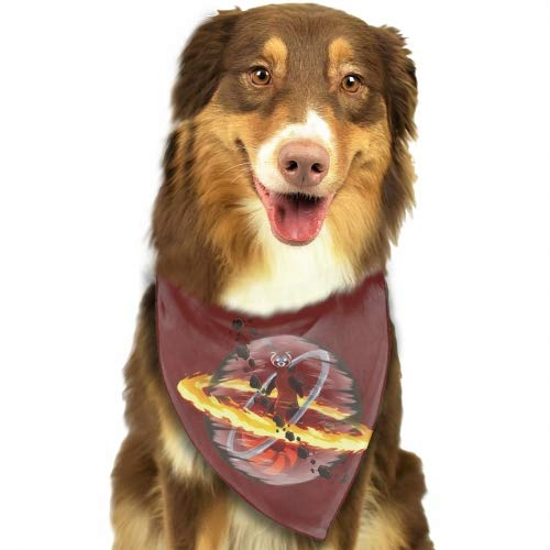 USTON Fighting Ferret Fun Bright Color Snap-On Pet Dog Bandana Triangle Scarf Bibs - Accessories for Dogs, Puppy, Cats - Small/Medium, Soft Polyester Bandanas
