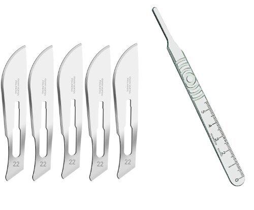 Swann-Morton Scalpel No 4 With 5X Blades by Swann Morton