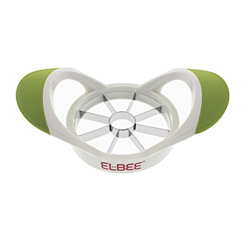 Elbee Home Upgraded Apple Slicer Cutter and Divider, Easy Grip Ultra Sharp Stainless Steel Blades, Easy to Clean, Makes Perfect Slices Every Time, Can Cut Large Apple (Best Apple Peeler Corer And Slicer Reviews)