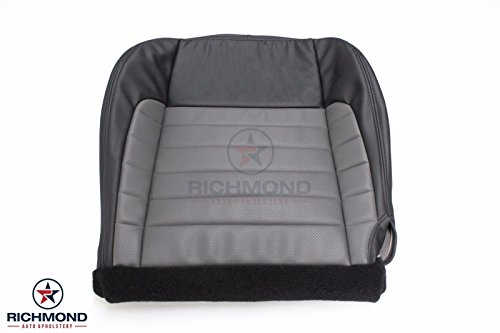 Richmond Auto Upholstery 2002 Ford F-150 F150 Harley Davidson Edition Driver Side Bottom Replacement Leather Seat Cover, Black & ()