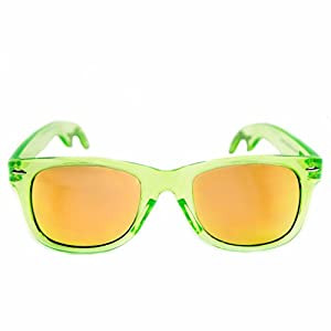The Radicals - Clear Green Wayfarer Sunglasses with Built-in Bottle Opener!