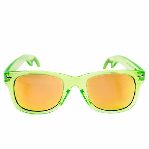 The Radicals - Clear Green Wayfarer Sunglasses with Built-in Bottle - Sunglasses Bad Boy
