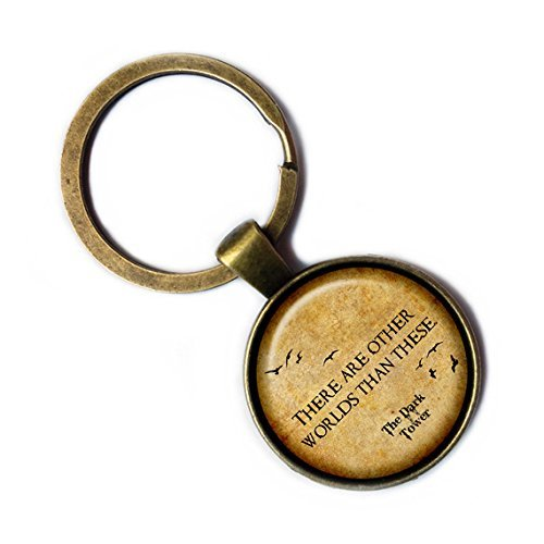 The Dark Tower 'There are other worlds than these.' Bronze Keychain Keyring