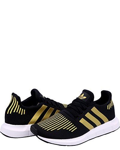 Adidas Originals Women's Swift Run W, Black/Gold Metallic/White, 9 M US