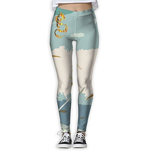 Women's Slim Pants Leggings (Gold Dragon Pants)