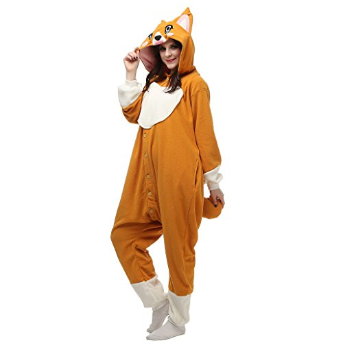 [Albrose Cartoon Jumpsuits Pajamas Science Fiction Movie kigurumi Cosplay Costumes Little Fox XL] (Little Girl Fox Costumes)