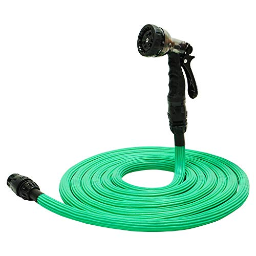 EMME Garden Hose Water Hose Up to 100ft Expandable Garden Hose with 3/4″ Connector Durable Flexible Expanding Hose for All Water Needs Newest Patent