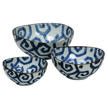 Miya Uzu-Karakusa Nested Bowl Set J1679