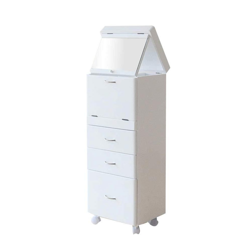 KSW_KKW Schubladenschrank, schicke Anrichte Holz Lagerschrank, Kommode skandinavischen Nordic-Stil mit Schubladen und Türen Schlafzimmermöbel (Color : White)
