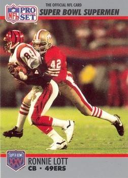 1f790956a Ronnie Lott football card (San Francisco 49ers) 1990 Pro Set  105 Super Bowl
