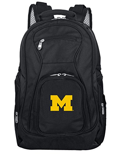 Denco NCAA Michigan Wolverines Voyager Laptop Backpack, 19-inches, Black