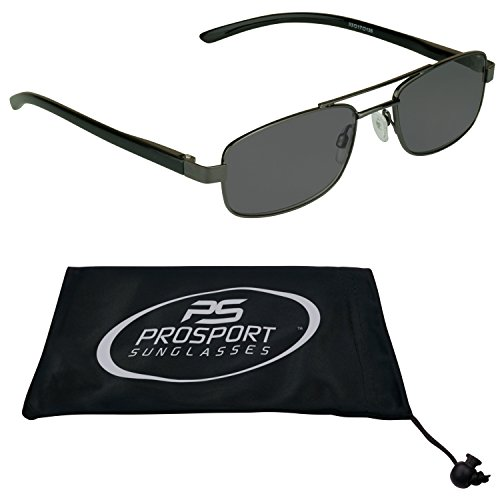 Pilot Square Aviator Reading Glasses Tinted No Line Full Sun ()
