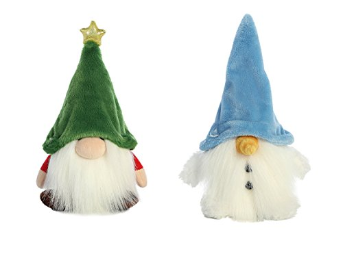 Bundle of 2 Aurora Gnomlin Stuffed Animals for Holiday Gifts - Spruce and Snowgnomlin