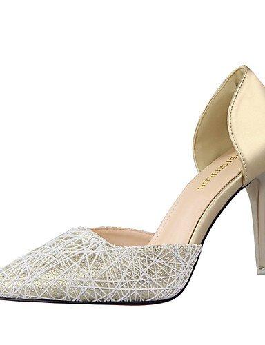 GGX/ Damen-High Heels-Lässig-Kunstleder-Stöckelabsatz-Komfort / Spitzschuh / Geschlossene Zehe-Schwarz / Blau / Rosa / Weiß / Silber / Gold pink-us8 / eu39 / uk6 / cn39