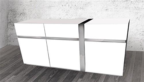 Cristallino Collection Lacquer Buffet, White (White Lacquer Buffet)
