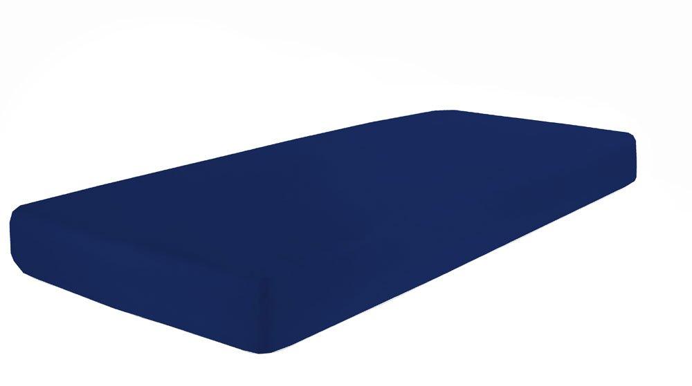 Dormisette Q37, Sábana ajustable Mako-Feinjersey, tamaños de 90 x190-100 x 200 cm, azul: Amazon.es: Hogar