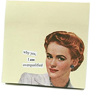 "ANNE TAINTOR 73300 ""I am Overqualified"" Sticky Notes"