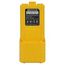 Nktech Bl-5l Extended 3800mah 7.4v Li-ion Battery Baofeng Uv-5r Battery For Baofeng Uv-5r V2 Uv5ra Uv-5rb Uv-5re Plus Bf-f8hp Bf-f8+ Uv-5x3 Two Way Radio Batteries Accessories Yellow