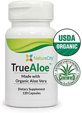 TrueAloe 100% Organic Aloe Vera Supplement