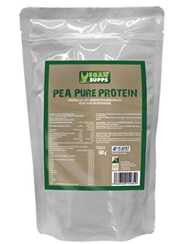 PEA PURE PROTEIN, Standbeutel 500 g, Erbsen-Protein-Isolat als hypoallergene Eiweiß-Quelle ohne jegliche Zusatzstoffe.