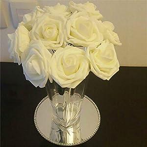 10 Heads 8Cm Pretty Charming Artificial Flowers Pe Foam Rose Flowers Bride Bouquet Home Wedding Decor Scrapbooking DIY Supplies 3