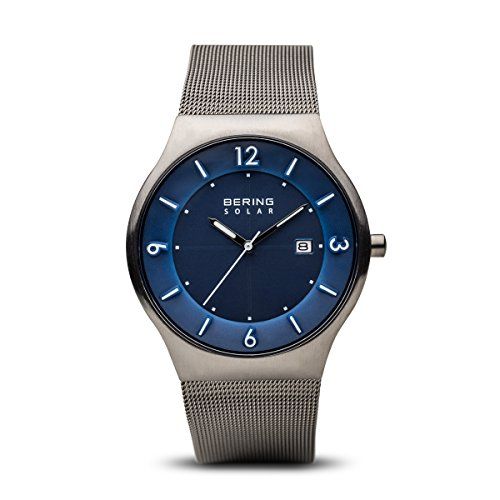 BERING Time 14440-007 Men Solar Collection Watch with Stainless-Steel Strap and scratch resistent sapphire crystal. Designed in Denmark