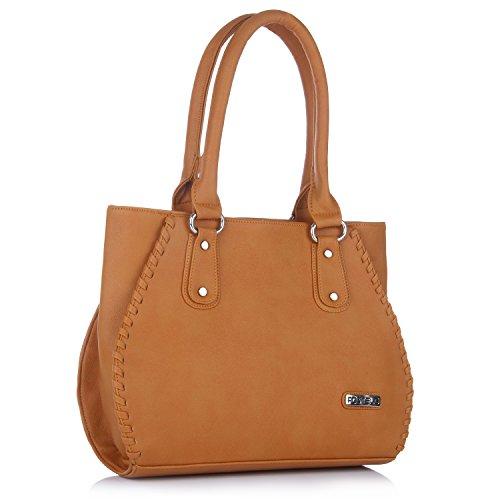 Fostelo Women's Everyday Casual Shoulder Bag (Tan) (FSB-444)