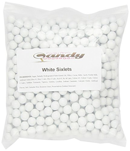 White Sixlets (1 Pound Bag) -