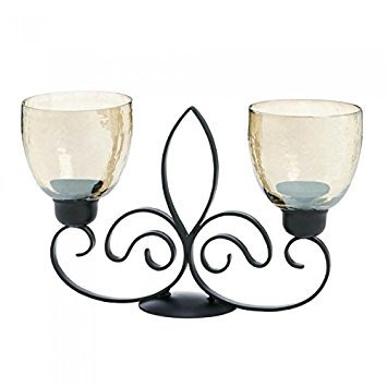 Gallery of Light Fleur De Lis Dual Candle Holder