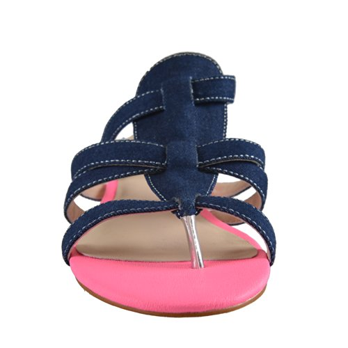 EU Strap Cavalli Sandals Women's Just 37 US Ankle 7 Denim OUHRwq8wx