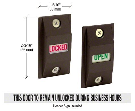 CRL Dark Bronze Opened/Locked Lock Indicator - DL2187DU