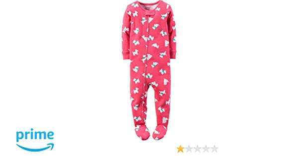 aafe89d48aae Amazon.com  Carter s Baby Girls  1 Piece Fleece Pajamas  Clothing