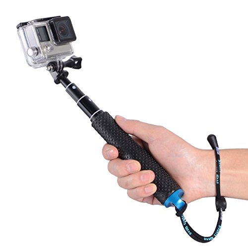 "Trehapuva Selfie Stick for GoPro,19"" Waterproof Hand Grip Adjustable Extension Monopod Pole for GoPro Hero 6 5 4 3+3 2 1 Session, AKASO, Xiaomi Yi,SJCAM SJ4000 SJ5000 SJ6000(Blue)"