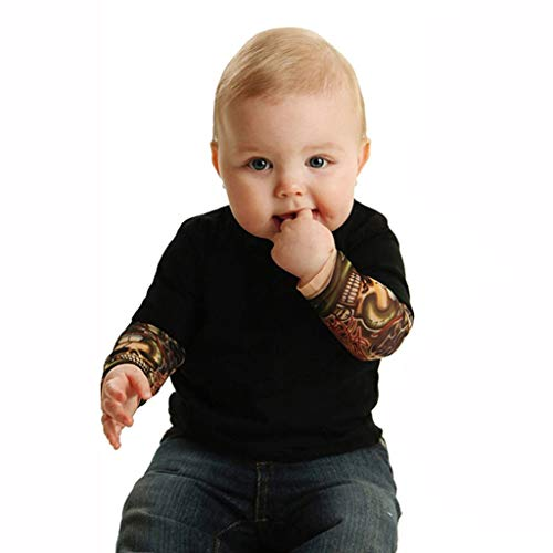 Scary Food Ideas For Halloween (Mayunn Infant Baby Boys Cotton Long Sleeve Tattoo Printed Patchwork Romper Autumn Bodysuit Clothes Outfits Set)